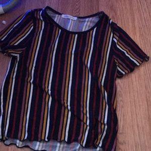 T-shirt crop top